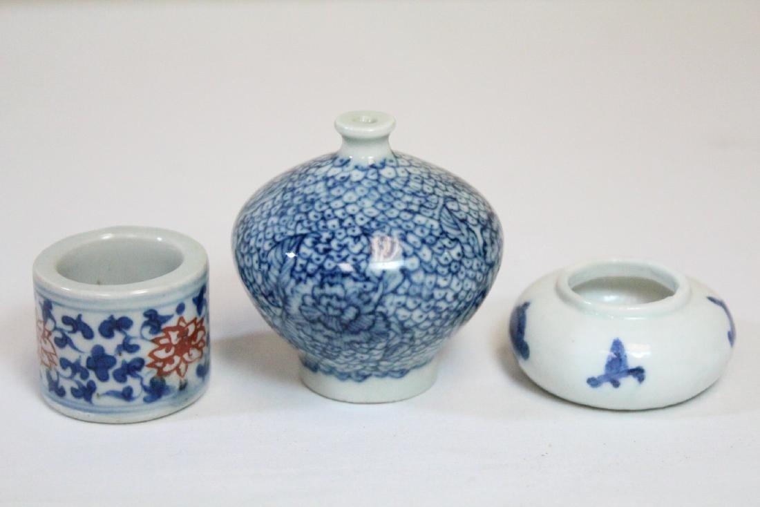 3 miniature porcelain pieces - 2