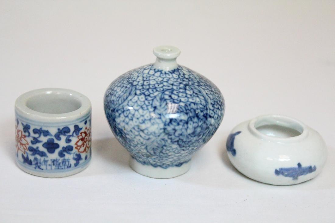 3 miniature porcelain pieces - 4