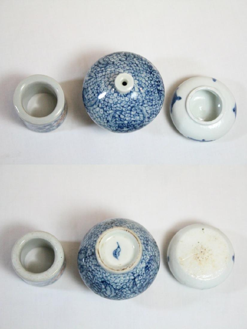 3 miniature porcelain pieces - 5