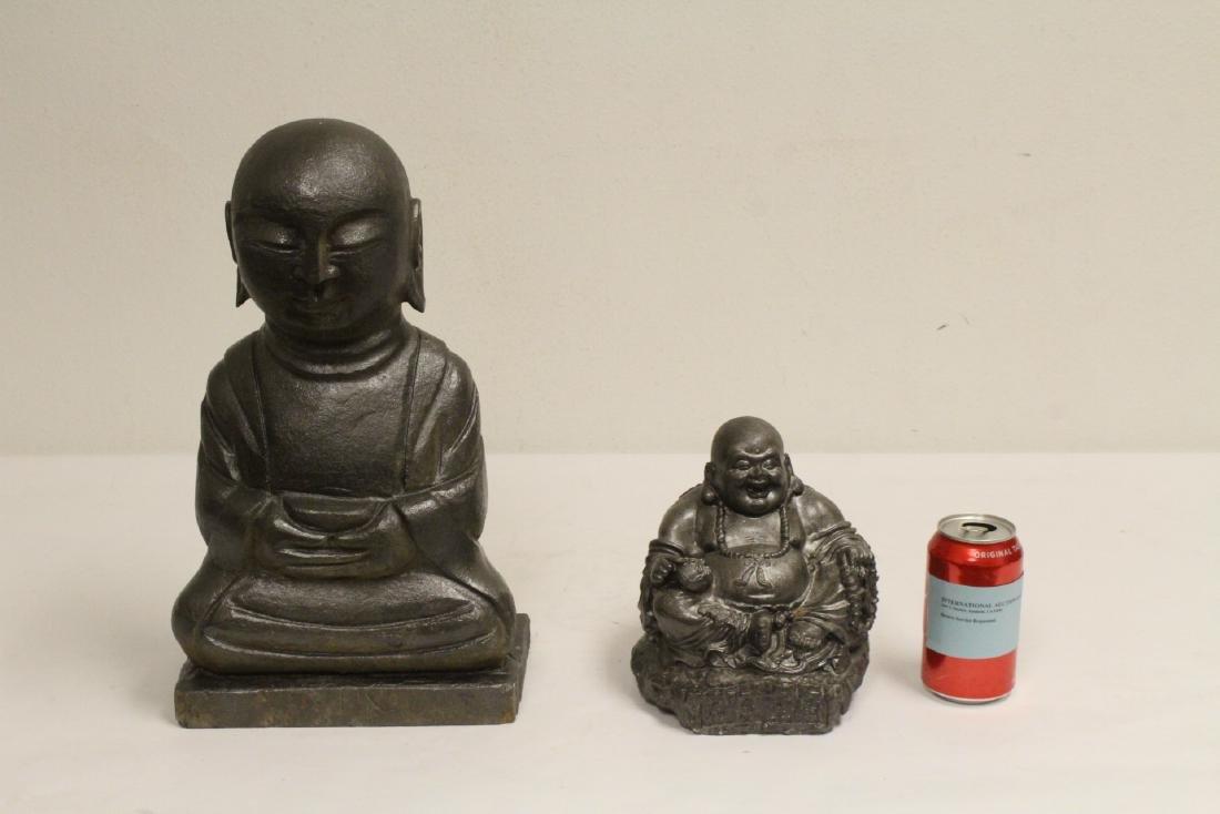 2 stone carved Buddha
