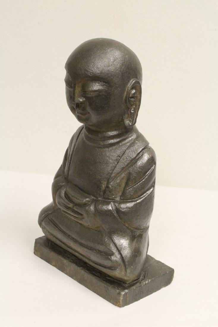 2 stone carved Buddha - 3