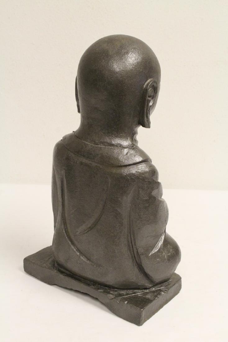 2 stone carved Buddha - 4