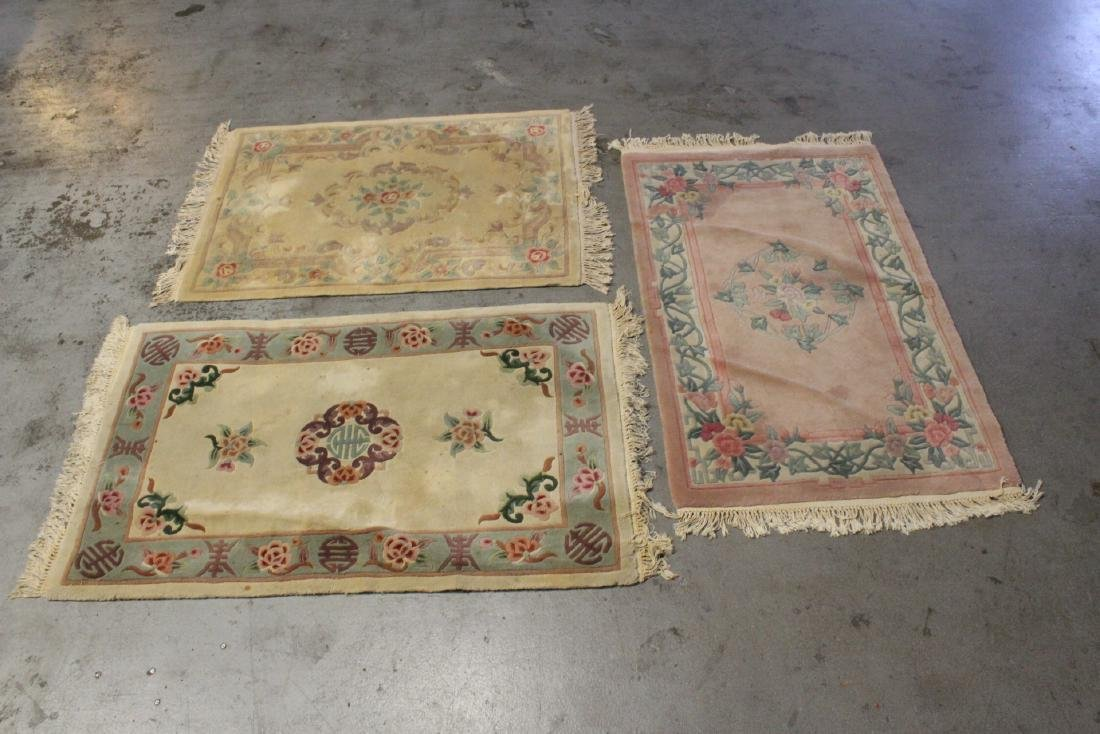 3 Chinese area rugs