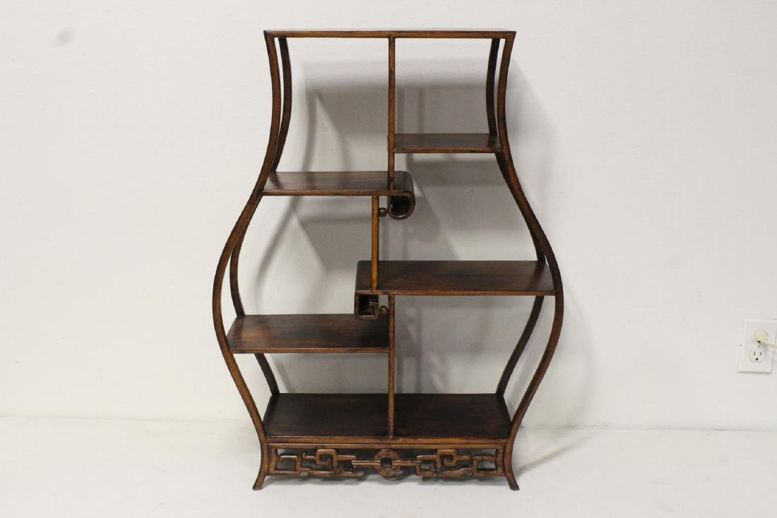 A beautiful Chinese rosewood curio stand