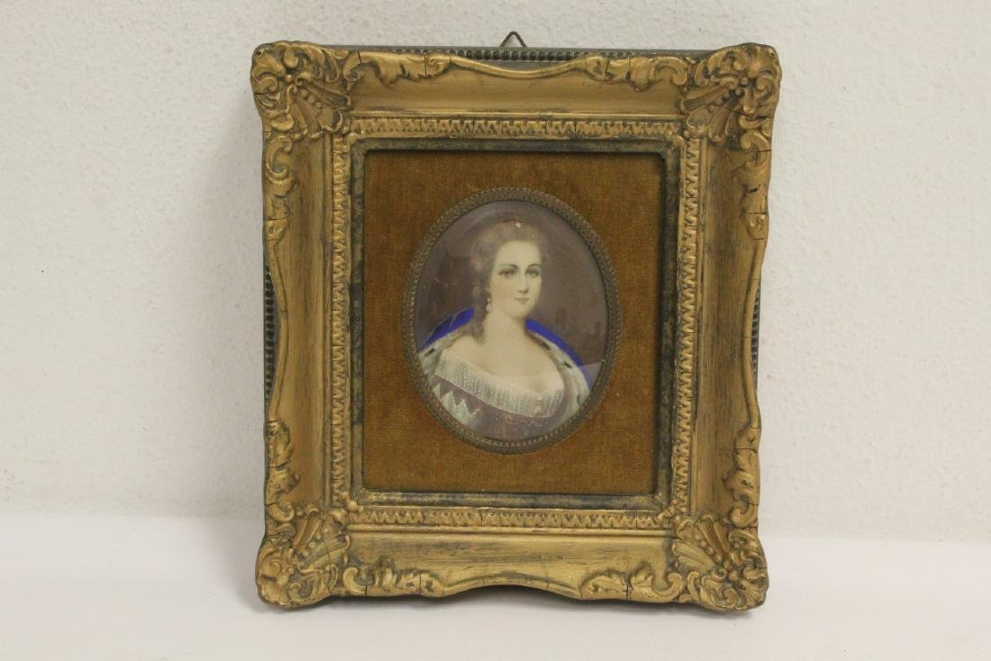 Antique framed miniature painting