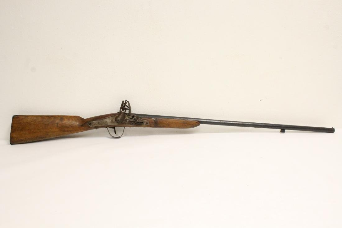 18th/19th century Belgium flint lock rifle