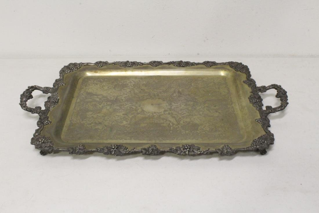 Victorian silverplate serving tray