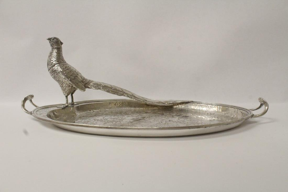 beautiful Victorian silverplate candy serving tray - 2