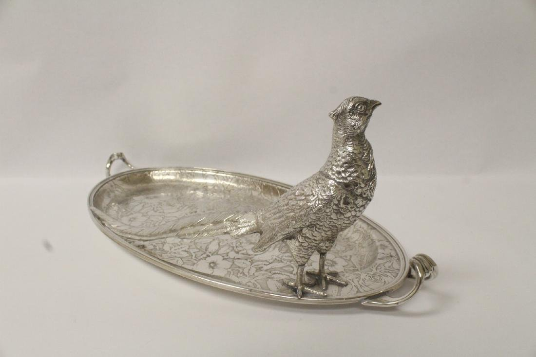 beautiful Victorian silverplate candy serving tray - 6