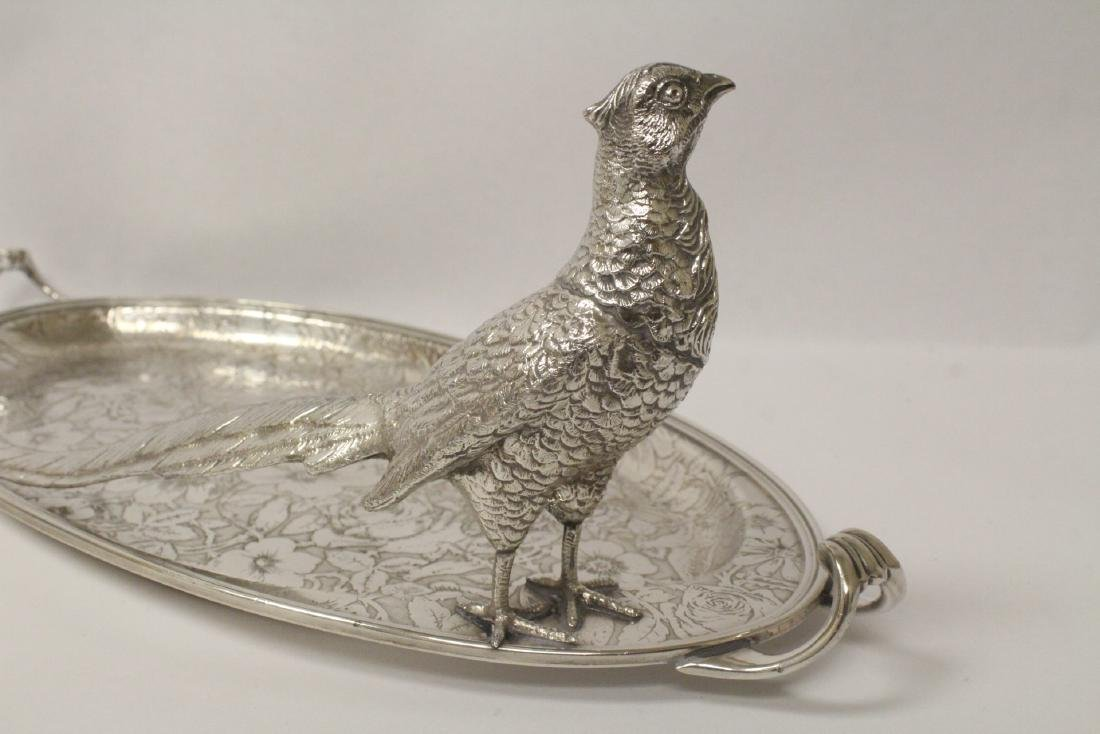 beautiful Victorian silverplate candy serving tray - 7