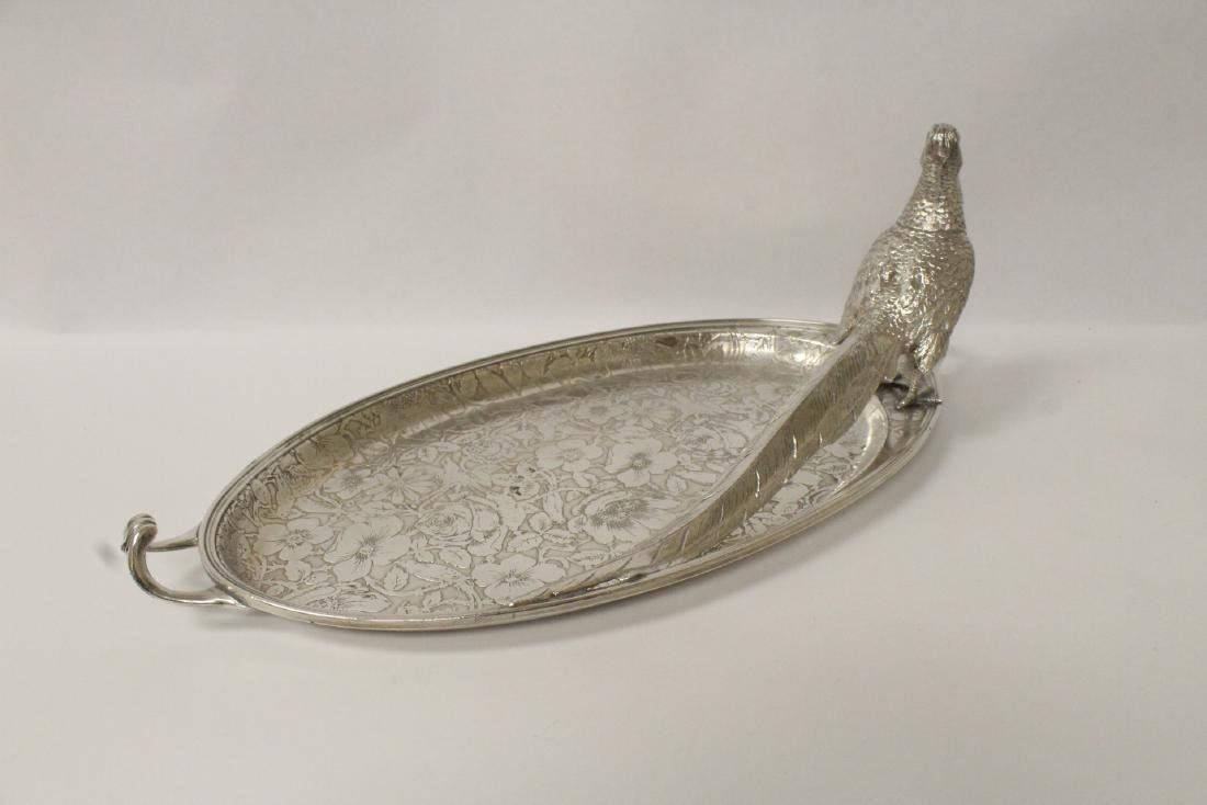 beautiful Victorian silverplate candy serving tray - 8