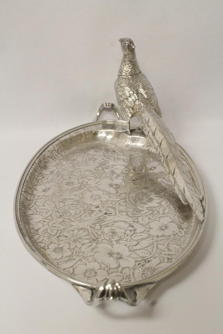 beautiful Victorian silverplate candy serving tray - 9