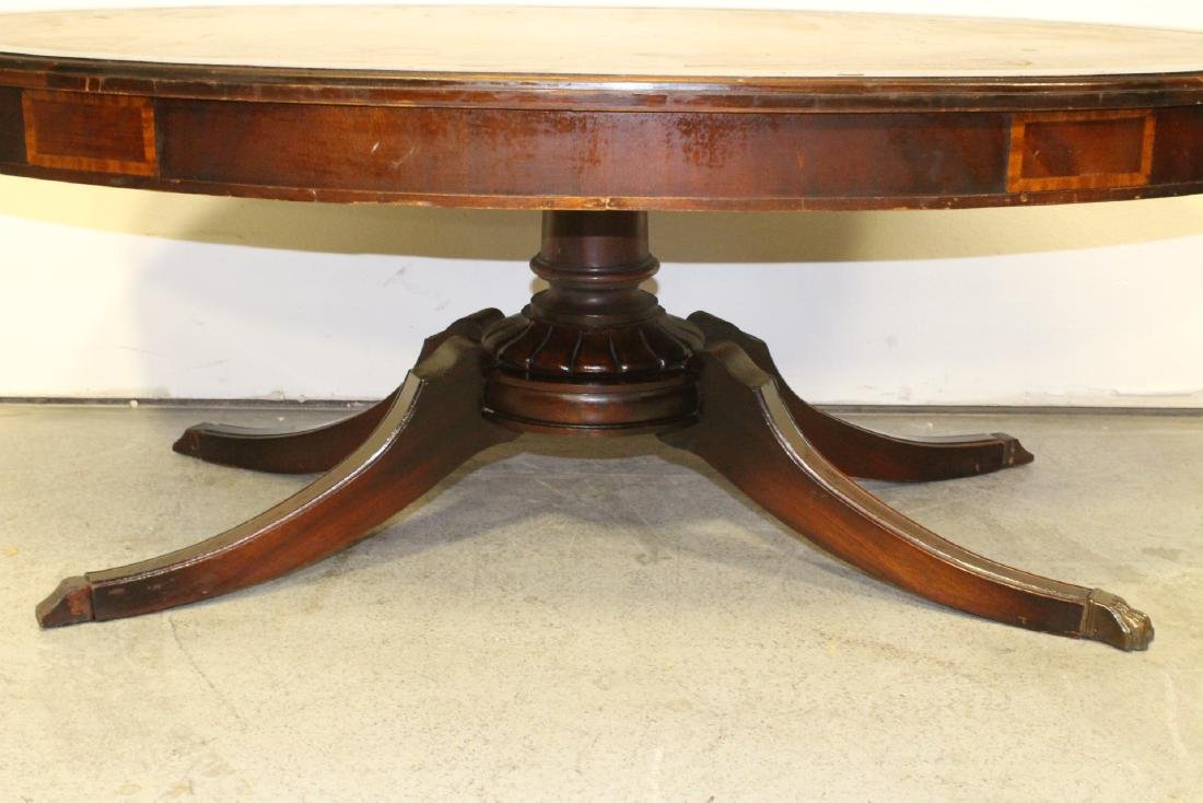 Victorian leather top mahogany coffee table - 3