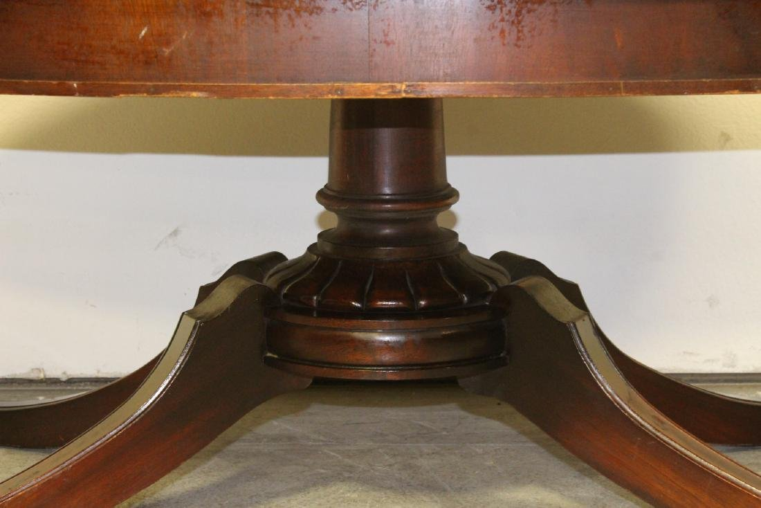 Victorian leather top mahogany coffee table - 4