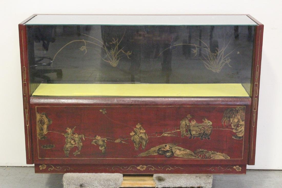 Chinese vintage chinoiserie display case