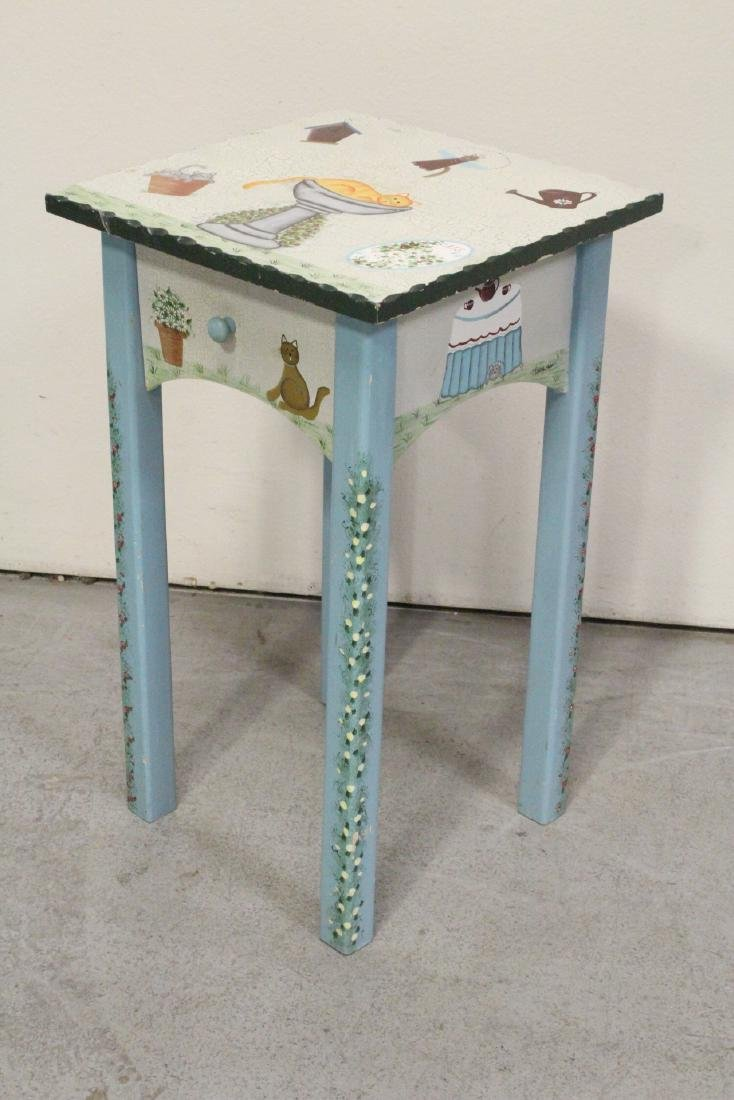 A painted lamp table by Kathy Hatch collection - 4