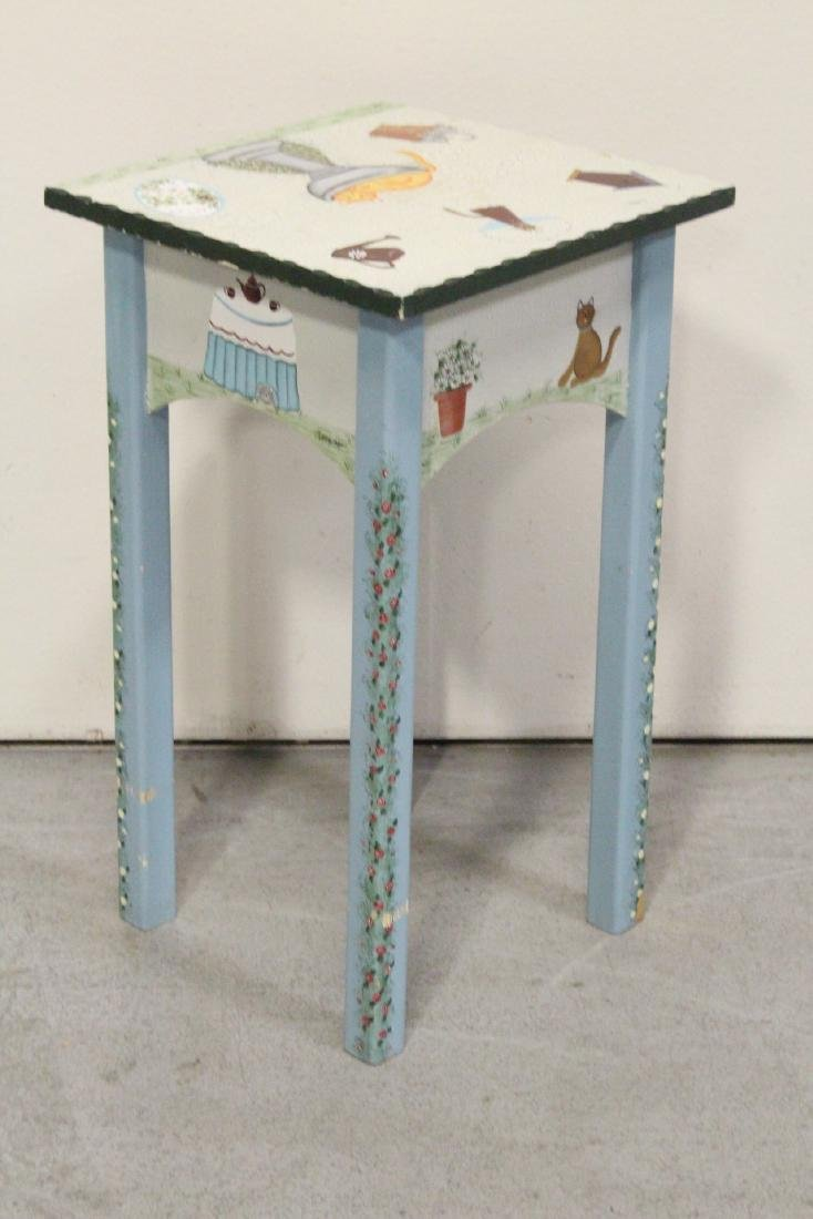 A painted lamp table by Kathy Hatch collection - 6