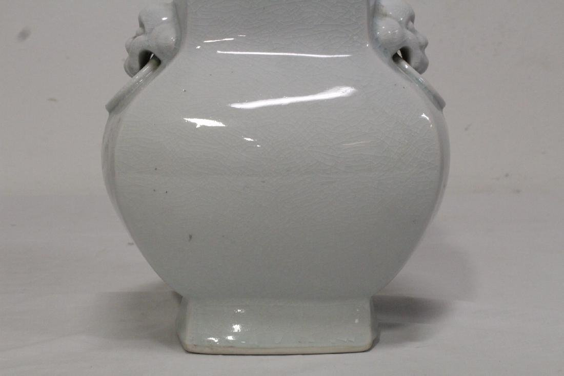 Chinese light celadon square vase - 9