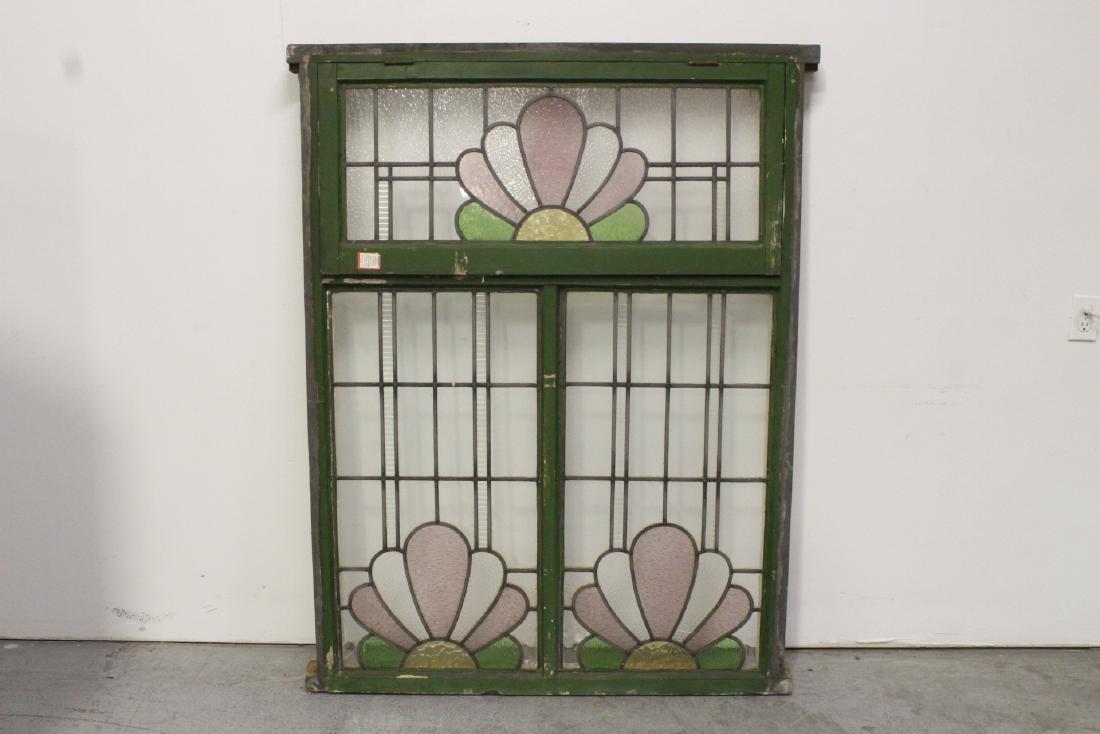 A beautiful antique glass window