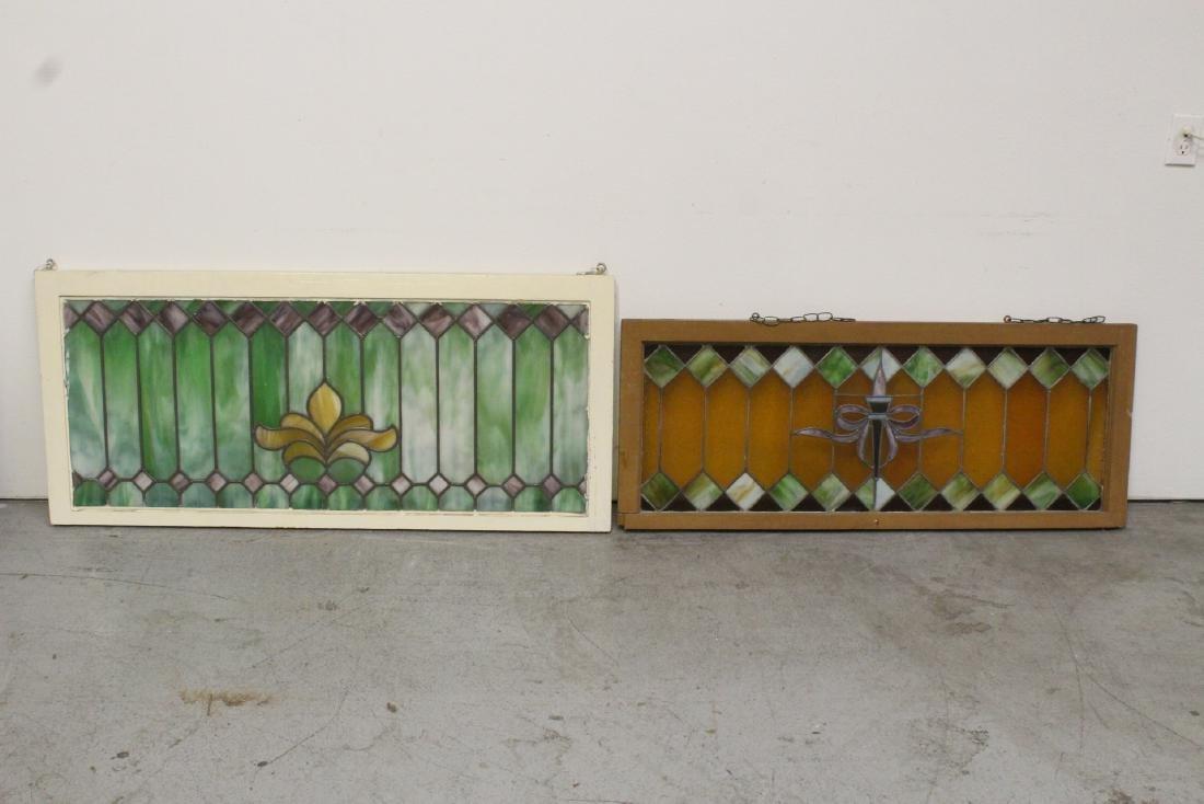 2 leaded glass window