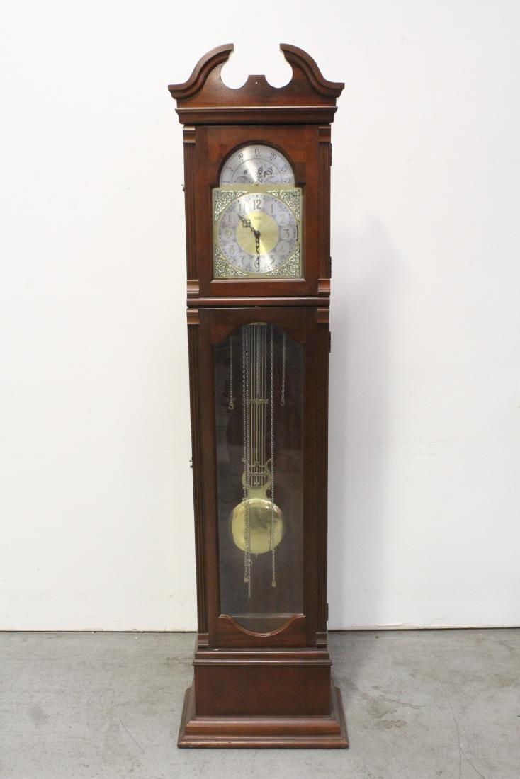 Mahogany cased grandfather clock by Ridgeway