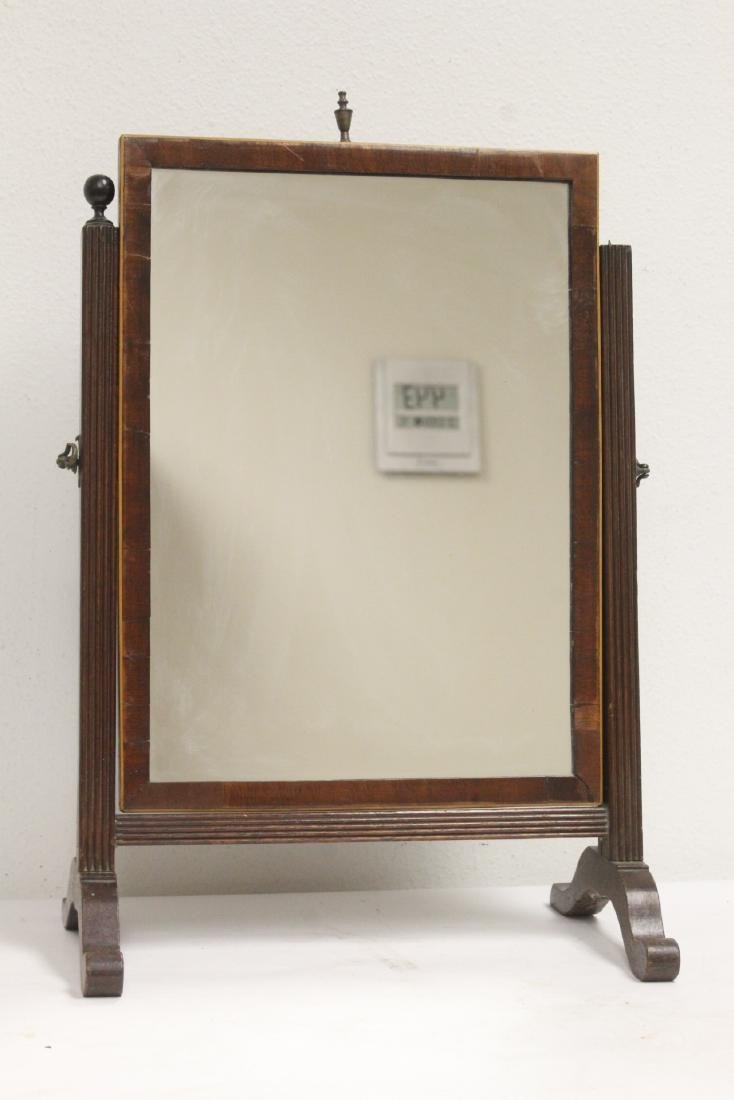English 18th/19th c.table top dressing mirror