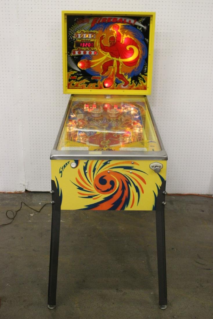 A Bally Fireball 4-player pinball machine