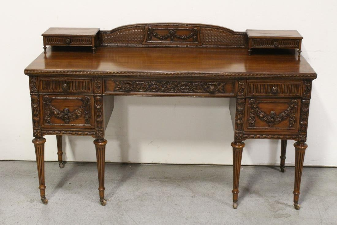 French early 20th century mahogany desk