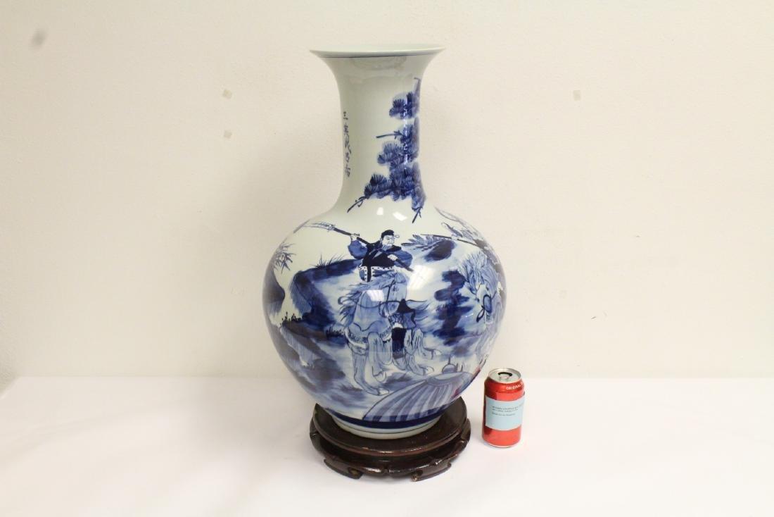 Chinese vintage blue and white porcelain vase