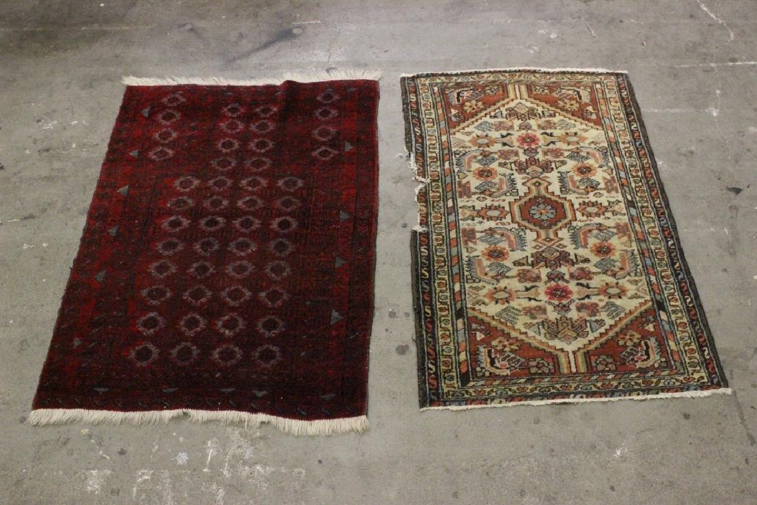 2 vintage Persian rugs