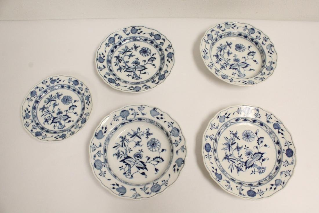 3 plates and 2 soup bowls by Meissen