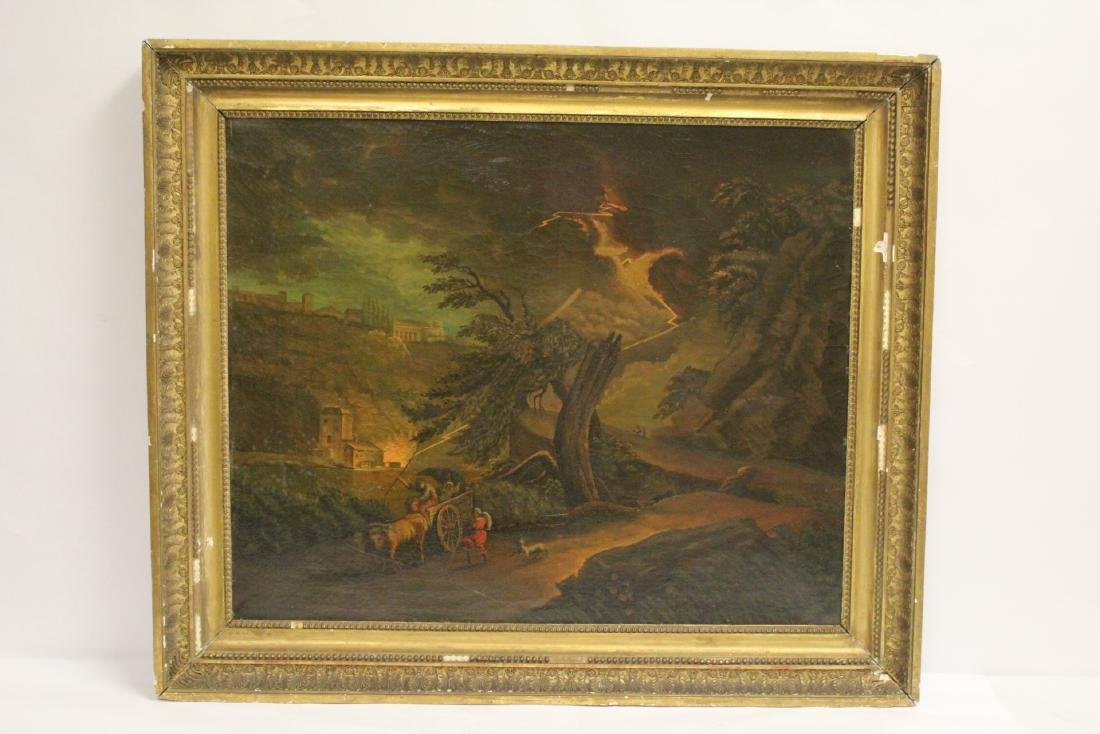 A large 19th century oil on canvas painting