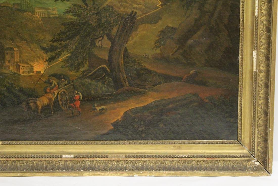 A large 19th century oil on canvas painting - 4
