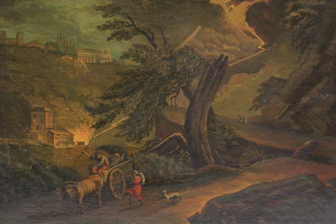A large 19th century oil on canvas painting - 6