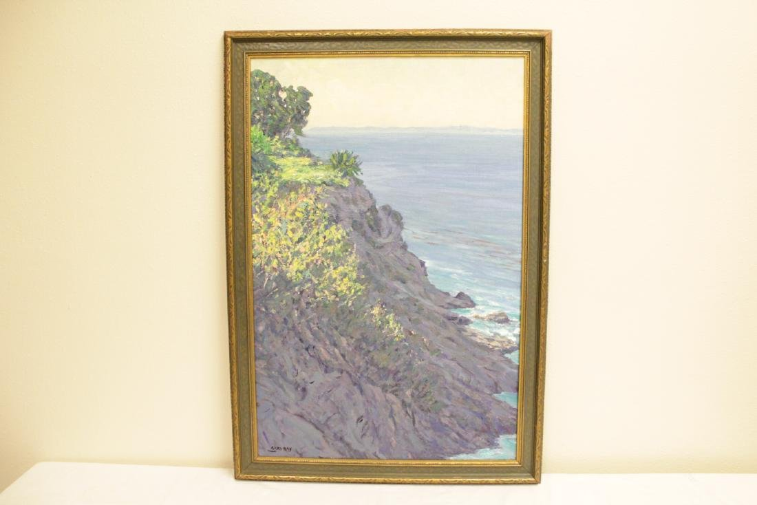 "Oil on board ""seashore scene"" signed Gary Ray"