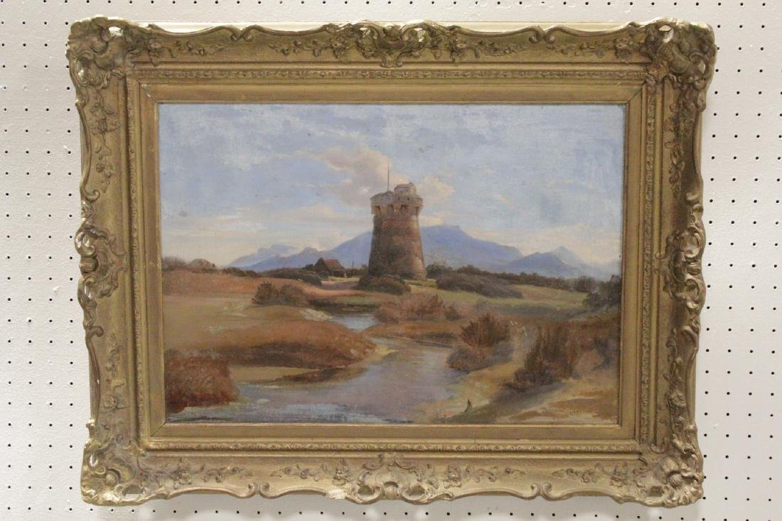 19th c. oil on canvas, signed Leonard Grantham
