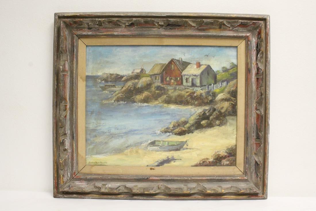 "Oil on canvas ""seashore scene"", signed"