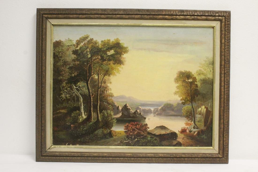 Oil on canvas by James Hope, dated 1851