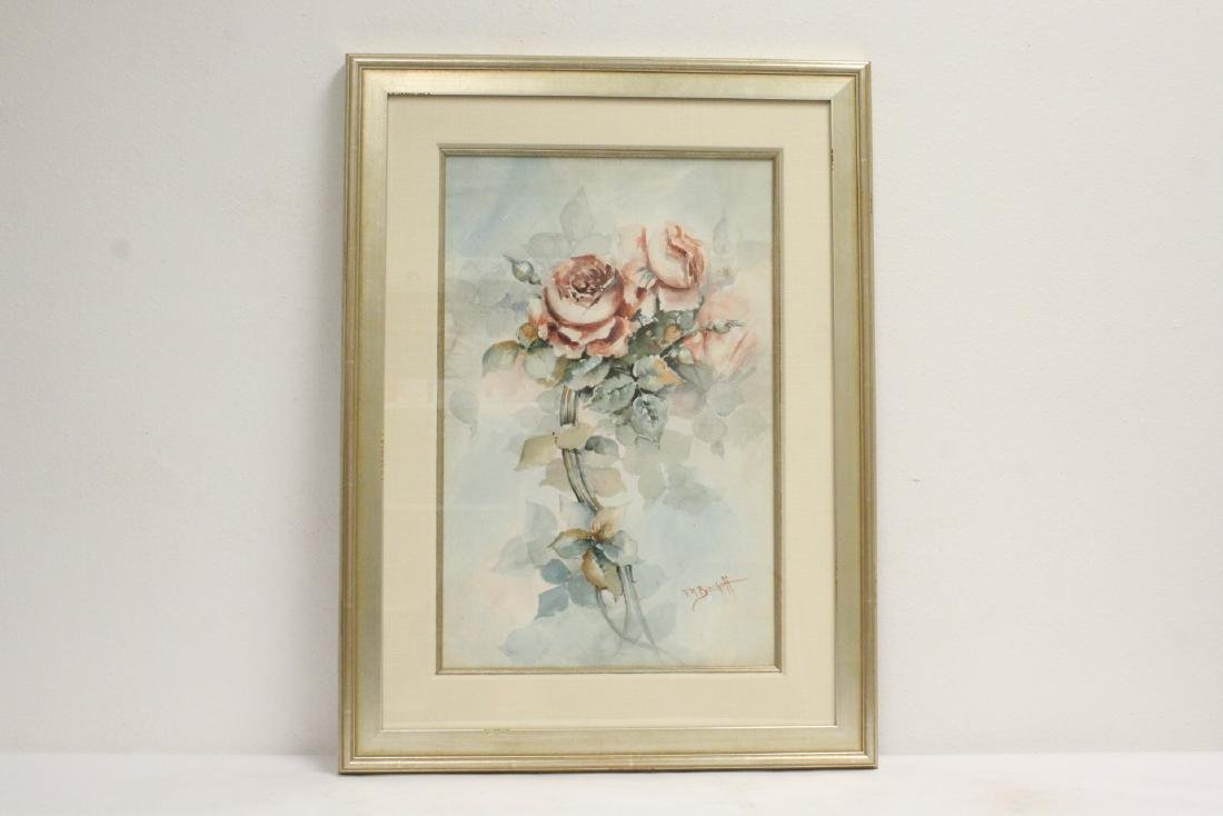 "Watercolor ""still life"" signed F. A. Bischoff"