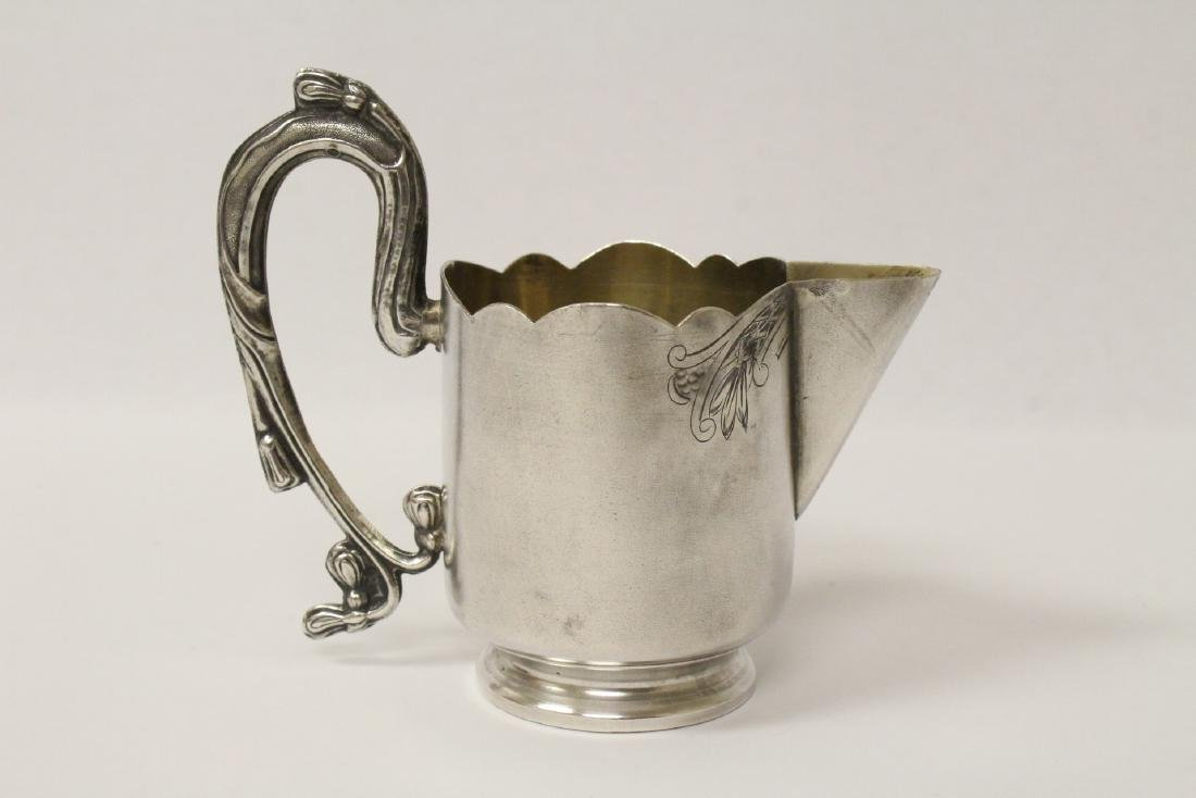 ornate antique Russian 84 silver handled creamer