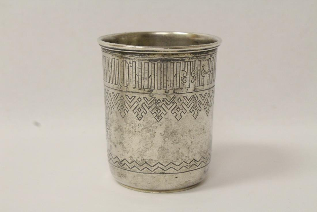2 antique Russian 84 silver cups - 3