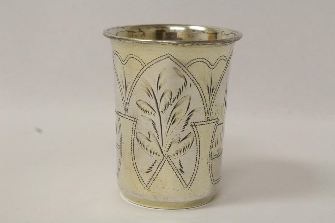 2 antique Russian 84 silver cups - 9