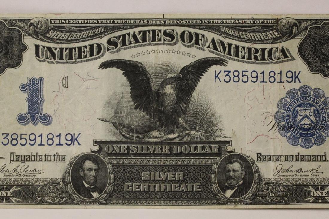 Rare 1899 one dollar silver certificate - 2