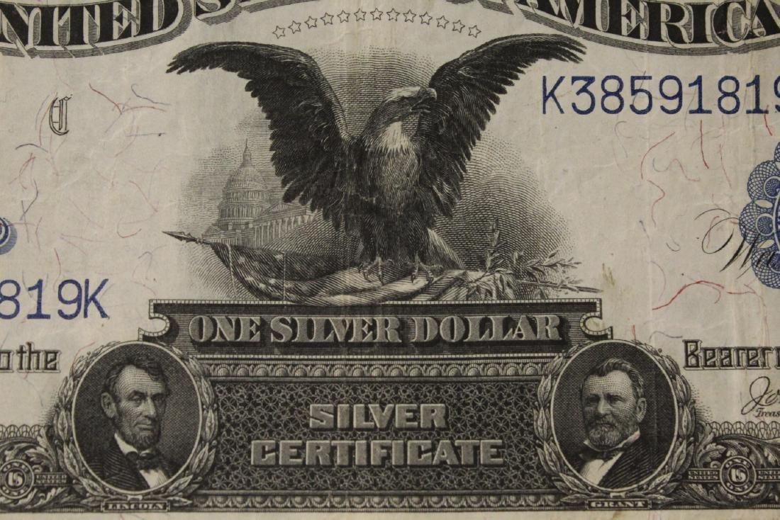 Rare 1899 one dollar silver certificate - 5