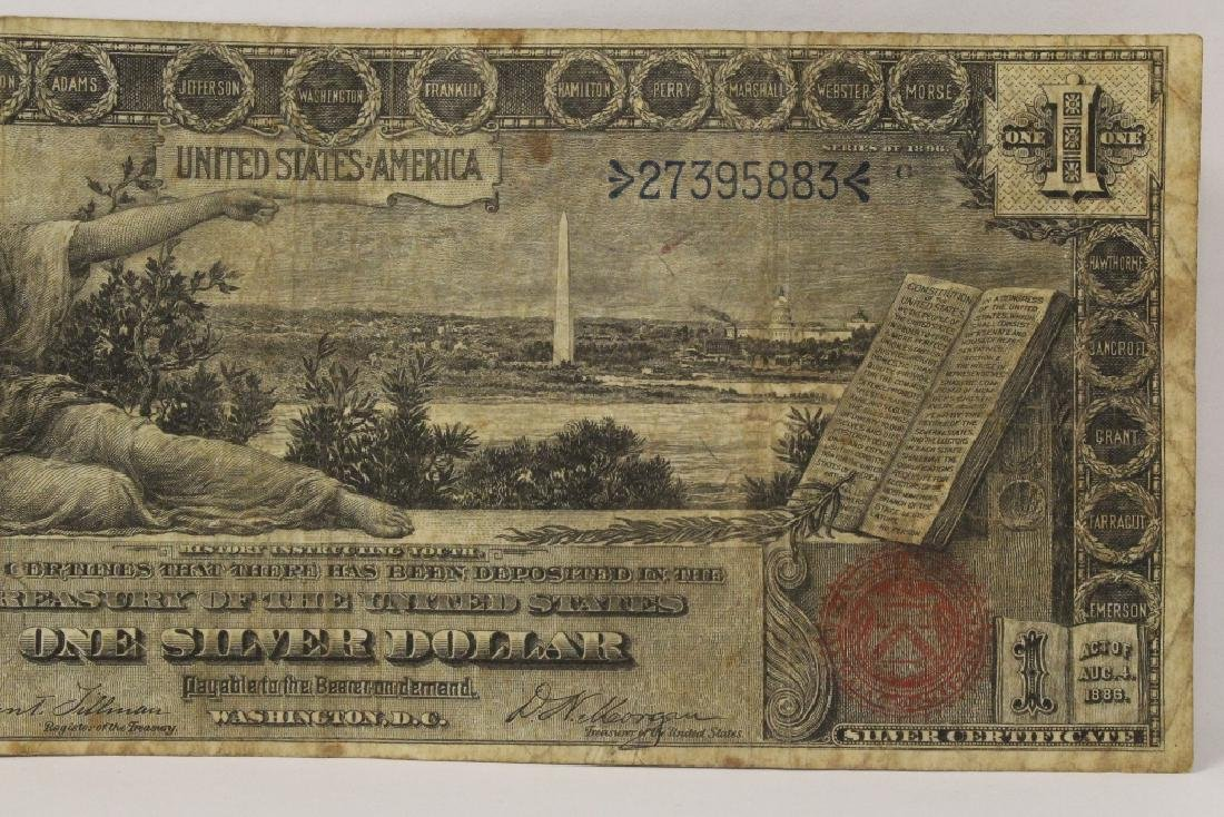 "1896 $1 silver certificate ""educational series"" - 3"