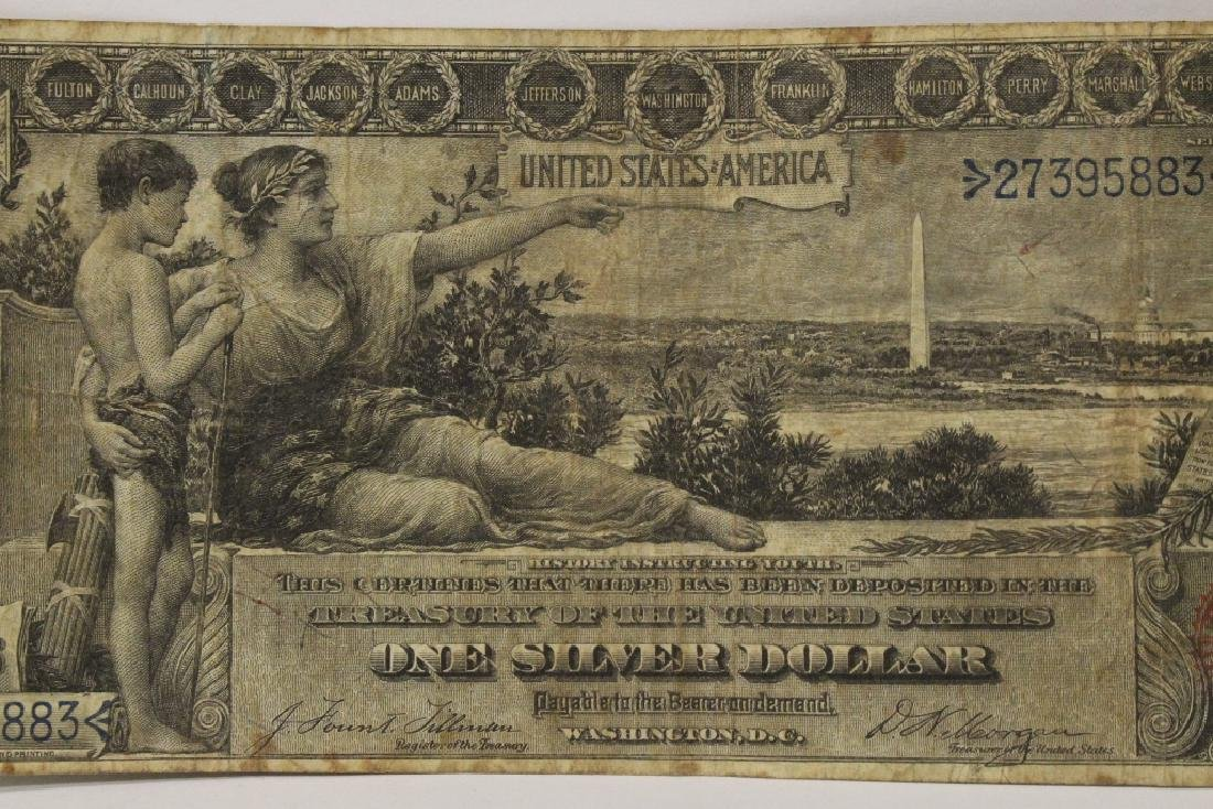 "1896 $1 silver certificate ""educational series"" - 4"
