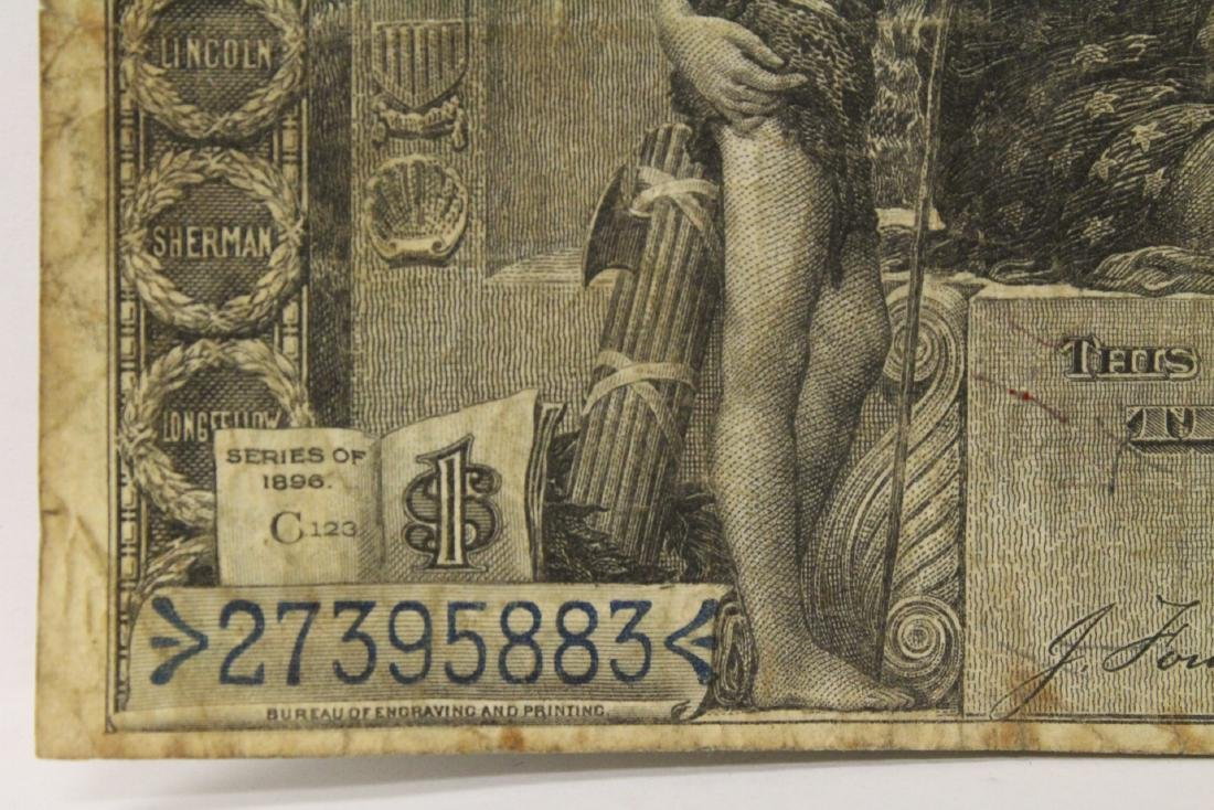 "1896 $1 silver certificate ""educational series"" - 6"