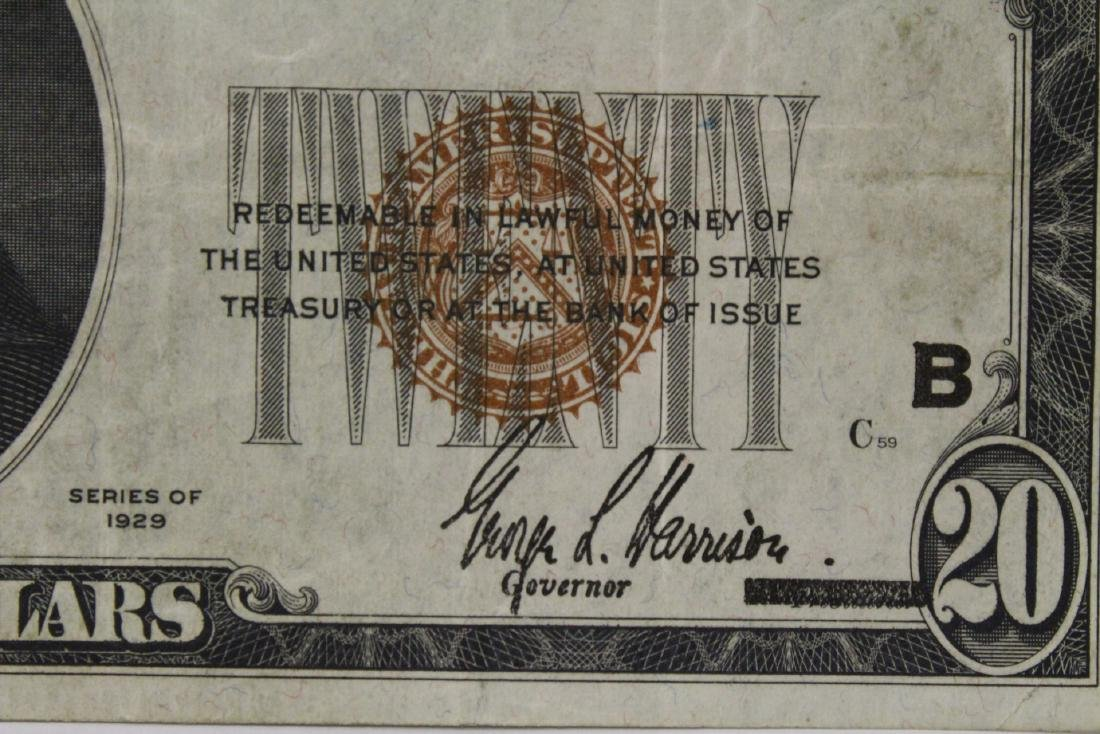 1929 Federal Reserve $20 note for Bank of New York - 10