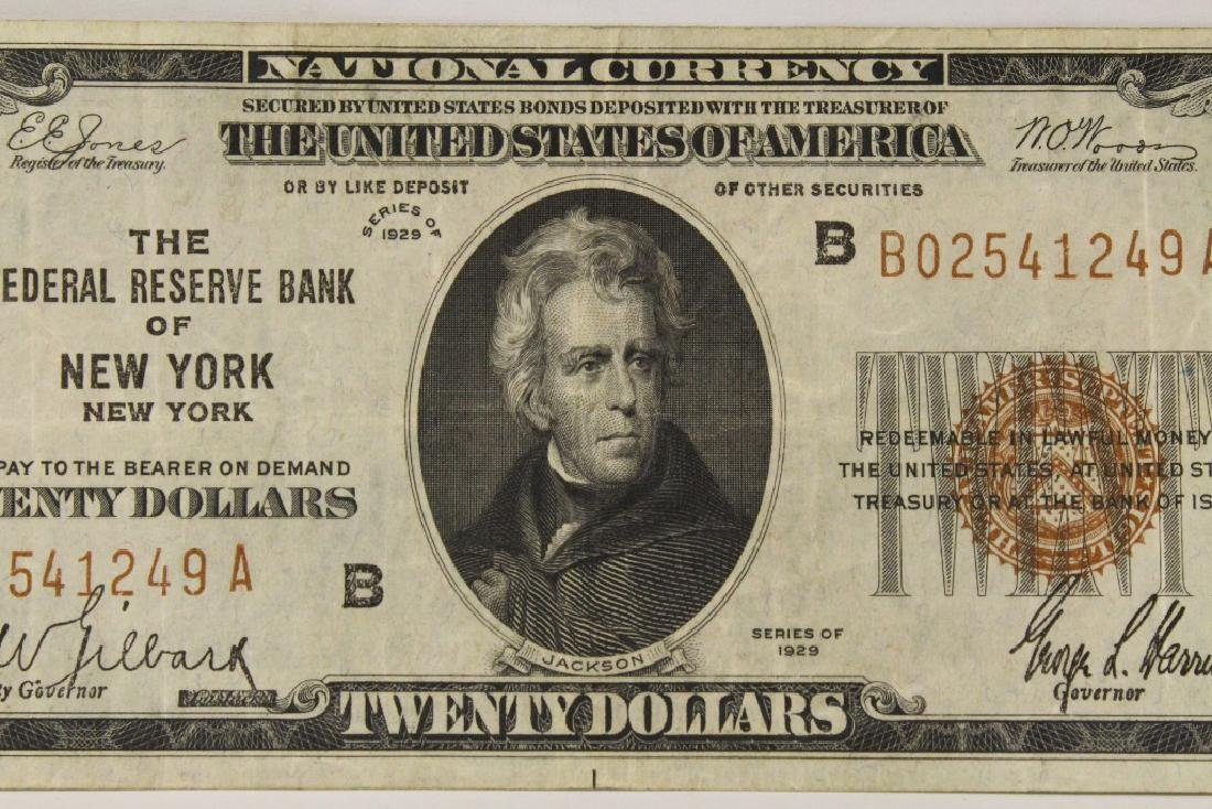 1929 Federal Reserve $20 note for Bank of New York - 4