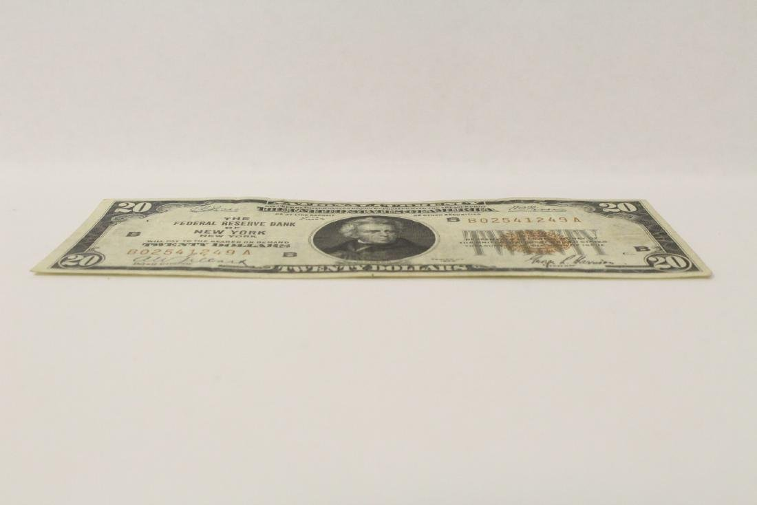 1929 Federal Reserve $20 note for Bank of New York - 5